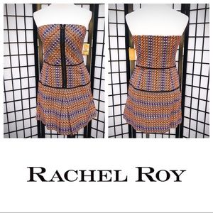 Rachel Roy Go West Strapless Front Zipper Mini